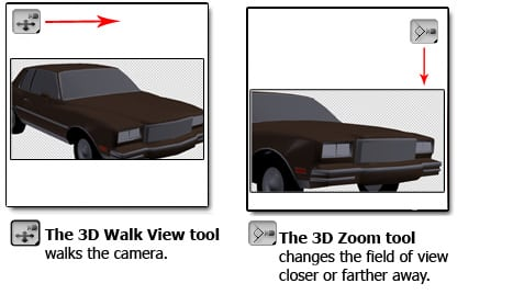 3dwalk Tools Panel Overview