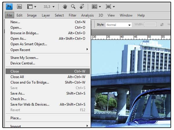 Photoshop fundamentals choose file close or click the close button on the title bar of the image window do not close photoshop ccuart Image collections