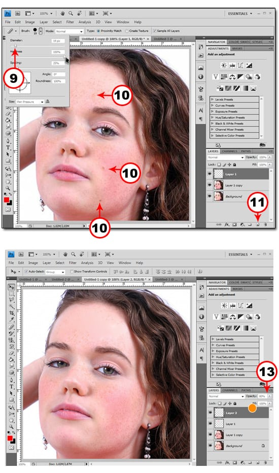blemishes2 REMOVE BLEMISHES IN PHOTOSHOP