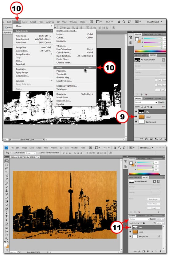 How To Make Stencils in PS