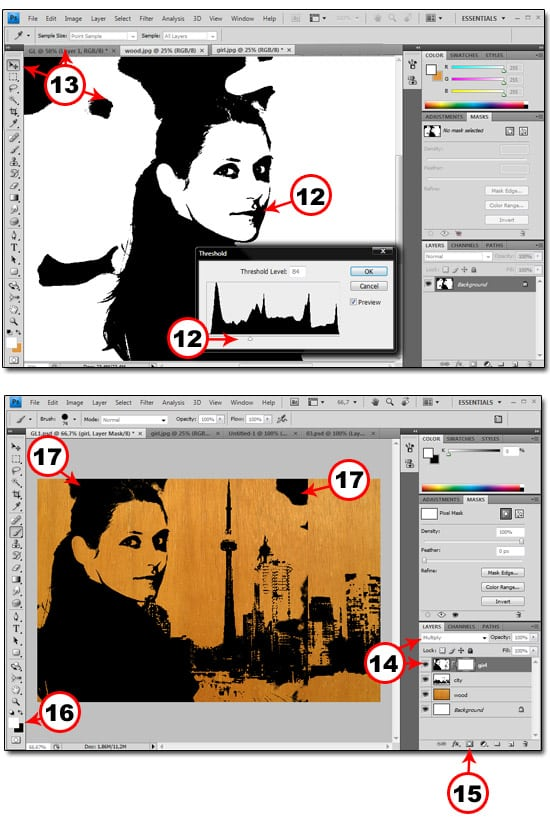 How To Make Stencils in PS 05