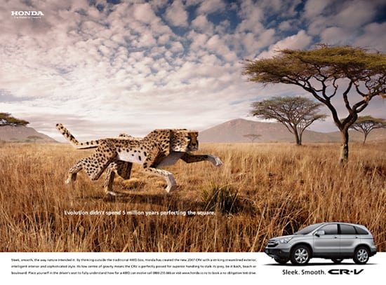 honda crv 30 Unique and Creative Advertising Campaigns