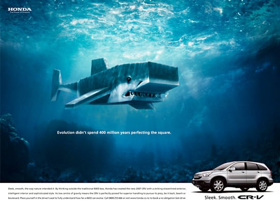 honda crv01 30 Unique and Creative Advertising Campaigns