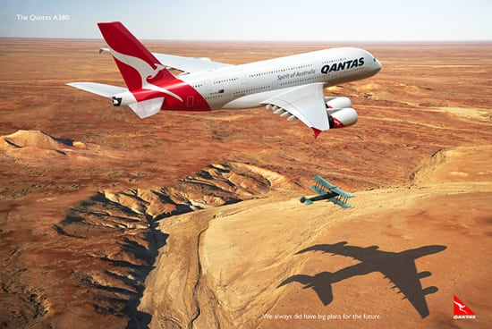 qantas ad 30 Unique and Creative Advertising Campaigns