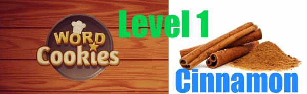 Word Cookies Cinnamon answers level 1