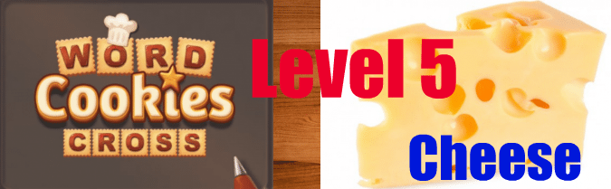 Word Cookies Cross Cheese Level 5.